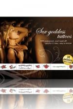 Tatouages Déesse du sexe : Sex Godess Tattoos: 38 tatouages coquins temporaires - thème Déesse du sexe.