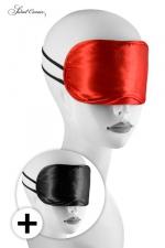 Pack 2 bandeaux Love Masks : Avec ces 2 masques pour jeux BDSM, occultez lui la vue pour exacerber ses sensations.