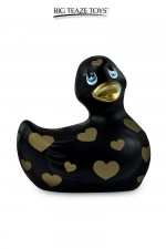 Mini canard vibrant Romance noir et or : Déclinaison noire et or du célèbre canard vibrant dans la collection Romance.  I Rub My Duckie est désormais en version 2.0.