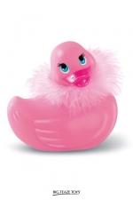 Canard de bain vibrant Paris Duckie : Canard vibrant version glamour, l'original pour se faire du bien dans le bain.