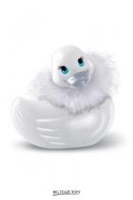 Mini canard de bain vibrant Paris Duckie : Mini canard vibrant version glamour, l'original pour se faire du bien dans le bain.