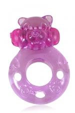 Anneau vibrant Power Ring Bear : Sextoy pour le couple, silicone, splashproof, à interrupteur, piles incluses.
