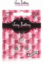 Piles sextoys Sexy Battery LR41 - AG3 (x3) : Pack de 3 piles de type AG3 (LR41) conditionnées dans un emballage sexy.