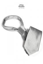 Cravate coquine Christian Grey's Tie : Accessoire de domination et de soumission, collection officielle 50 Nuances De Grey.