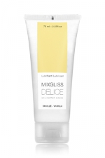 Lubrifiant vanille DELICE (70 ml) : Gel à base d'eau, parfum vanille, fabriqué en France.