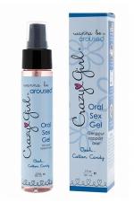 Gel Sexe Oral Crazy Girl - Cotton Candy : Gel intime pour rapport oral (fellation ou cunnilingus) parfum barbe à papa, pour le plus grand plaisir des deux partenaires.