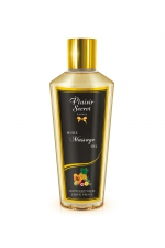 Huile sèche fruits exotiques : Huile de massage sèche au délicieux parfum de fruits exotiques pour des massages aussi relaxants que bons pour le corps.