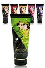 Crème de massage Délectable (200 ml) : Crème de massage comestible, 6 arômes, testée dermatologiquement.