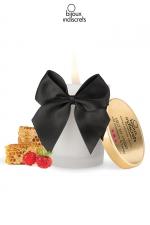 Bougie de massage Fraise : Superbe bougie se transformant en huile tiède au doux parfum Fraise par Bijoux Indiscrets.