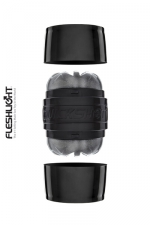 Masturbateur Fleshlight Quickshot Boost : Le plus petit masturbateur Fleshlight, version noire, 2 orifices.