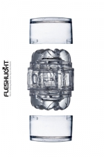 Masturbateur Fleshlight Quickshot Vantage : Le plus petit masturbateur Fleshlight, version transparente, 2 orifices.