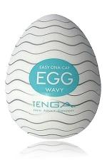 Masturbateur oeuf Egg Wavy : Edition Wavy avec nervures ondulées pour ce masturbateur innovant et de qualité.