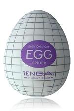 Masturbateur oeuf Egg Spider : Edition Spider avec nervures quadrillées pour ce masturbateur simple et efficace.
