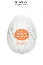 Tenga Egg Twister : Avec ses nervures en forme de tourbillon, ce masturbateur vous emportera dans un torrent de plaisir.