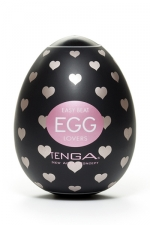Masturbateur oeuf Egg Lovers : Edition spéciale Lovers avec relief en forme de coeurs pour ce masturbateur simple et efficace.