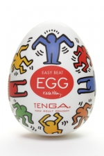 Tenga Egg dance - Keith Haring : Masturbateur Tenga EGG Dance, un sextoy collector avec design et texture exclusive.