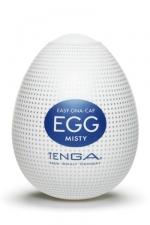 Masturbateur oeuf Egg Misty : Edition Misty avec picots microscopiques pour ce masturbateur simple et efficace.