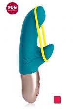 Mini vibro Deluxe Amorino : Amorino, le nouveau Vibromasseur DeluxeVIBE Mini avec bande stimulante amovible pour la stimulation externe.