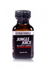 Poppers jungle juice black label 24 ml : Le poppers Jungle Juice black original dans une nouvelle formule extrême, extra forte, à base de nitrite d'amyle.