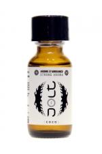 Poppers Jolt White Coco 25ml : Puissant arôme d'ambiance aphrodisiaque à l'odeur coco. Poppers made in France by Jolt, Nitrite de Propyle, flacon de 25 ml.