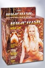 Poupée sexuelle Wild Cat Magic Flesh : Poupée gonflable à 3 orifices, livrée avec une pompe.